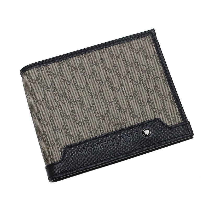 モンブラン キャンバス×カーフ 二つ折り財布 ブラウン 112352 【新品・未使用品】