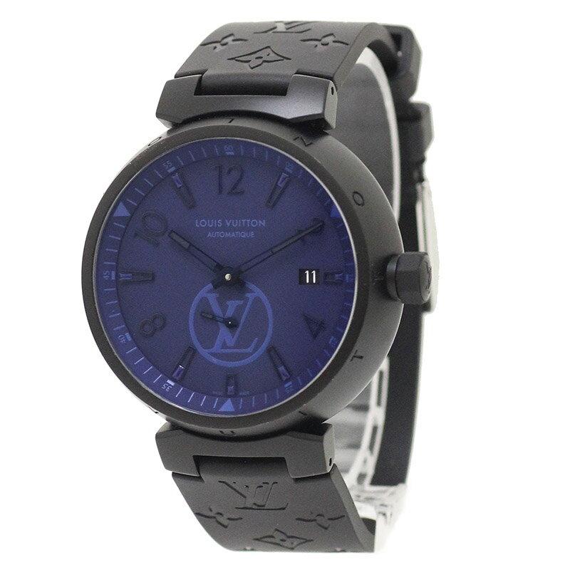 ルイ・ヴィトン タンブール モノグラム パシフィック 2018SS限定 自動巻き 腕時計 QA023 【美品】