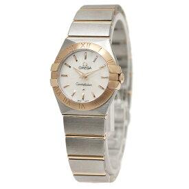 オメガ コンステレーション 123.20.24.60.05.001 シェル文字盤 レディース腕時計 【未使用 展示品】