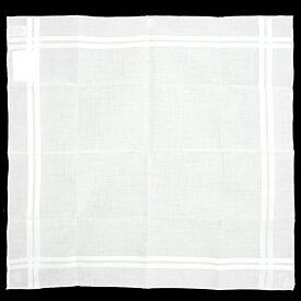 【新品・未使用品】エルメス コットン 100% ハンカチ 45 H068500G-02 ホワイト 箱付