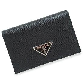 e0af4813eca3 プラダ サフィアーノ カードケース 名刺入れ 1M1122 ブラック 黒 箱付【新品・未使用