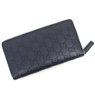 official photos c6b99 db5d4 With 307,987 Gucci Gucci sima signature zip around wallet long wallet dark  blue
