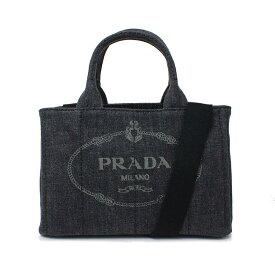 プラダ カナパ キャンバス デニム 2WAY ハンドバッグ 1BG439 ブラック 黒【新品・未使用品】