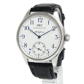【中古】IWC ポルトギーゼ F.A.ジョーンズ 手巻き メンズ 腕時計 世界3000本限定 ブラック 黒 IW544203