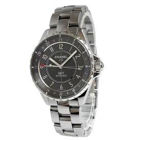 【中古】シャネル J12 クロマティック GMT 自動巻き メンズ 腕時計 H3099 箱付 ギャランティカードあり