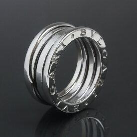 【美品】ブルガリ B zero 1 ビー ゼロワン 3バンド リング 指輪 750 K18WG ホワイトゴールド #49 9号 AN191024