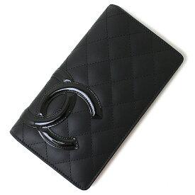【新品・未使用品】シャネル カンボンライン キルティングウォレット 二つ折り長財布 A26717 ブラック 黒 レディース 箱付