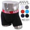 【メール便OK】anvilアンビルインナーボクサーパンツNO.531(メンズショーツボクサーブリーフ)