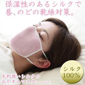 保湿 乾燥対策 マスク 除菌 呼吸 楽々安眠マスク 安眠 潤い ポーチ付き 唇 のど 大判 潤いシルクのおやすみマスク alphax アルファックス テレワーク ホームワーク シルク シルク100% AP-412137 AP-412144