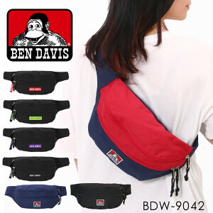 Ben Davis ボディバッグ メンズ レディース 黒 無地 ベンデイビス ウエストバッグ ウエストポーチ ショルダー カバン バッグミニサイズ 軽量 コンパクト カジュアル ネイビー 赤