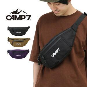 CAMP7 キャンプセブン シンプル ボディバッグ FIELD WAIST BAG ウエストバッグ ウエストポーチ 斜めがけ ワンショルダー レディース メンズ フェス 男女兼用 カジュアル 黒 ブラック CAP-9016B メール