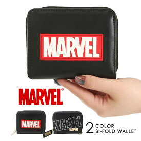マーベル MARVEL 二つ折り財布 財布 ウォレット カードケース 小銭入れ ラウンドファスナー カジュアル 50905 50906 アメコミ プレゼント ギフト メンズ レディース おしゃれ サイフ さいふ 男女兼用メール便対応