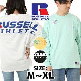 [送料無料] RUSSELL ATHLETIC ラッセル アスレチック Tシャツ メンズ 長袖 長袖Tシャツ ロンT クルーネックTシャツ クルーネック HIGH COTTON コットン 正規品 ブランド カジュアル プレゼント ギフト RC-19038