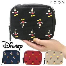 【期間限定クーポン】YOOY Disney ディズニー ポーチ 小物入れ レディース 大きめ 大容量 ミッキー モバイルポーチ 正規品 マルチポーチ トラベルポーチ 旅行 かわいい おしゃれ ドット柄 人気 キャラクター ミッキーマウス Mickey Mouse プレゼント YY-D023 メール便対応