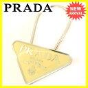 プラダ PRADA キーホルダー レディース ロゴ シルバー 良品 人気 【中古】 S238