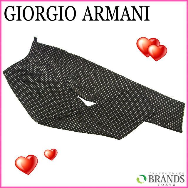 【中古】 アルマーニ ARMANI パンツ ドット ブラック×ベージュ ウール34%×アセテート20%×シルク10% A272 .