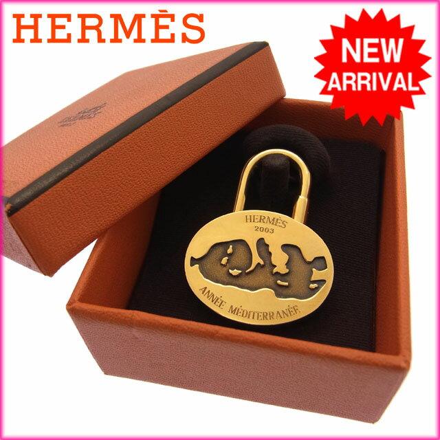 エルメス HERMES キーホルダーカデナメンズ可2003年限定モデル 地中海 ゴールドメッキ 【中古】 D560