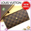ルイヴィトン Louis Vuitton 長財布 /ファスナー小銭入れ /メンズ可 /ポルトフォイユ・サラ ダミエ N61734 エベヌ PVC…