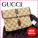 fa6a94847c0b Gucci GUCCI body bag / waist porch / men's possible GG pattern beige canvas  (correspondence) (popularity, beautiful article) Y600