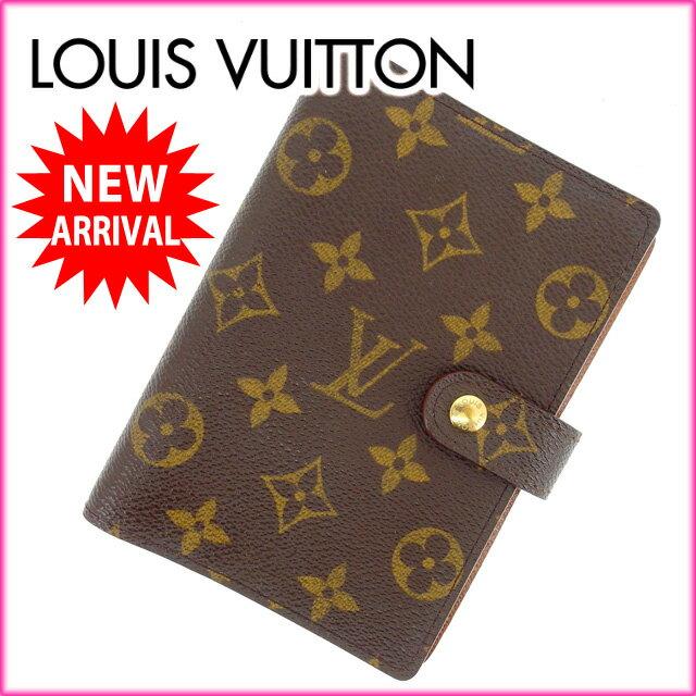 ルイヴィトン Louis Vuitton 手帳カバー カード入れ×3 メンズ可 /アジェンダPM モノグラム R20005 ブラウン PVC×レザー (あす楽対応)(人気・激安)【中古】 Y609