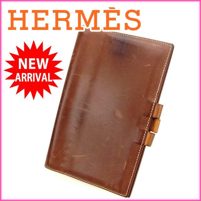 エルメス HERMES 手帳カバー /ヴィジョン ブラウン レザー (あす楽対応)人気 激安【中古】 Y756