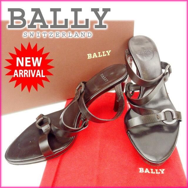 バリー BALLY サンダル #36 レディース ブラウン レザー (あす楽対応)人気 激安【中古】 Y950 .