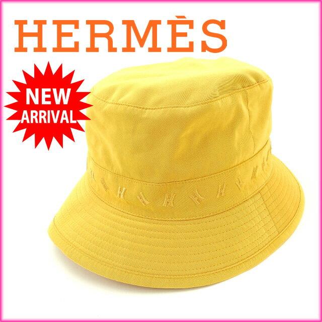 【お買い物マラソン】 【中古】 エルメス HERMES 帽子 ハット レディース オレンジ (あす楽対応)人気 美品 Y1429s .