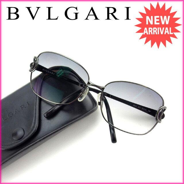 ブルガリ BVLGARI サングラス 度入り メンズ可 ブラック (あす楽対応)激安 セール【中古】 Y2981
