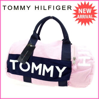 tomihirufiga TOMMY HILFIGER寬底旅行皮包2WAY肩膀女士粉紅棉100%未使用的物品A900