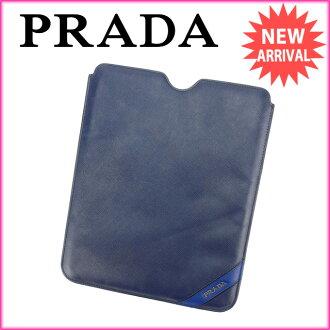 普拉达 (prada) 普拉达 (prada) iPad 案男子友好海军 PVC/皮革 (待售) 好 A914
