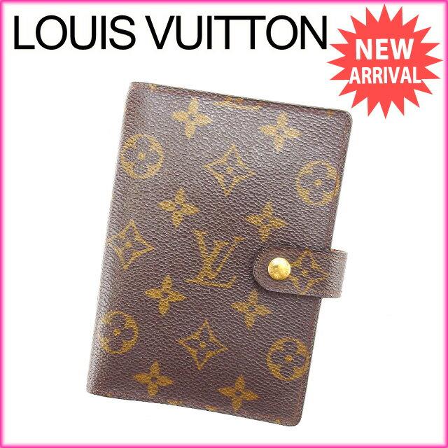 ルイヴィトン Louis Vuitton 手帳カバー カード入れ×3 メンズ可 アジェンダPM モノグラム R20005 ブラウン モノグラムキャンバス (あす楽対応)良品 セール【中古】 Y2359