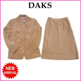 【中古】 ダックス DAKS スーツ タイトスカート セットアップ レディース テーラージャケット ベージュ Q026 .