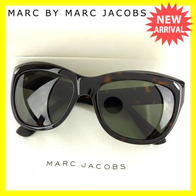 マークジェイコブス MARC JACOBS サングラス サイドロゴ入り レディース バタフライ型 べっ甲柄 MJ044/S 086H9 クリアブラック×ブラウン×シルバー プラスティック 【中古】 G733 .