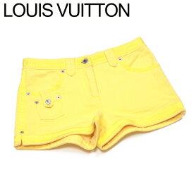 【中古】 ルイ ヴィトン Louis Vuitton パンツ ボトムス メンズ可 ♯34サイズ イエロー シルバー コットン 綿 T17500 .