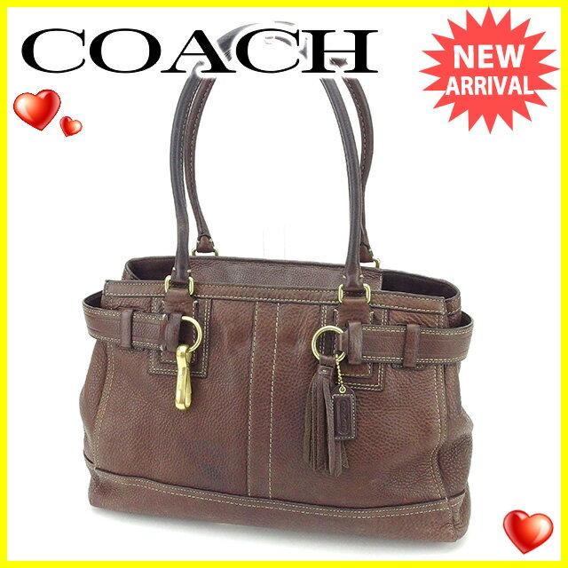 【中古】 コーチ トートバッグ ワンショルダー バッグ Coach ブラウン A1408s