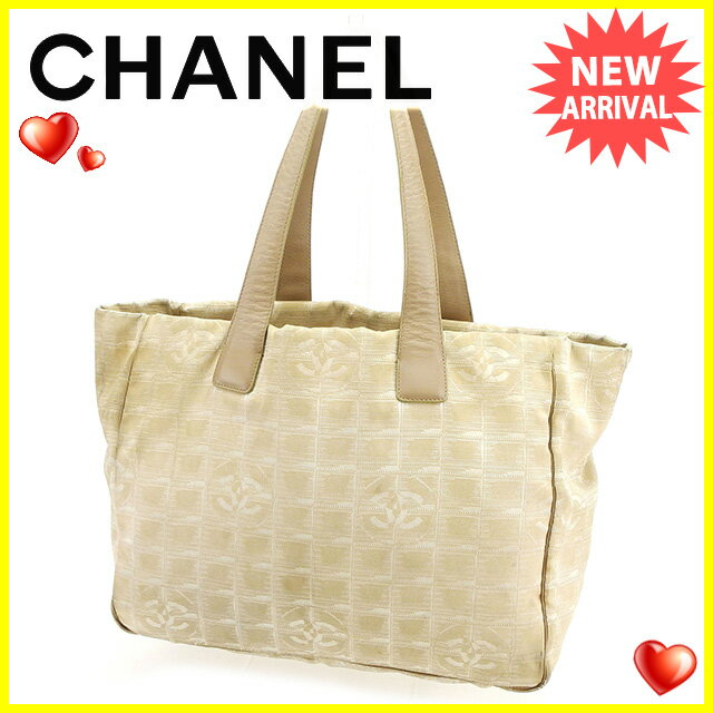 【お買い物マラソン】 【中古】 シャネル トートバッグ ショルダーバッグ バッグ Chanel ベージュ H502s