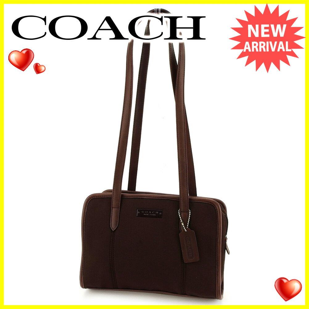 【中古】 コーチ ショルダーバッグ トートバッグ ミニバッグ バッグ Coach ブラウン A1668s .