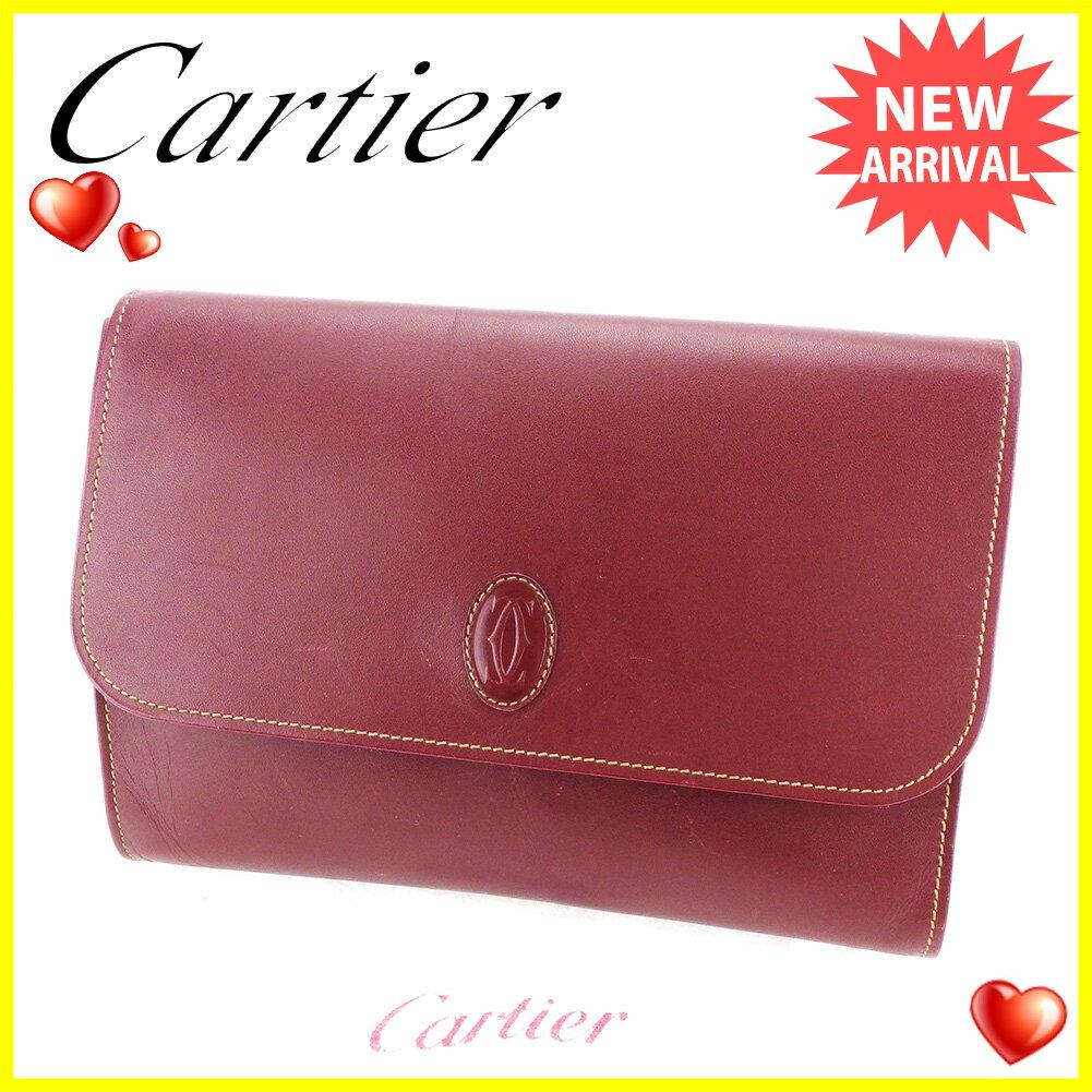 カルティエ クラッチバッグ セカンドバッグ バッグ Cartier ボルドー 【中古】 L1660s