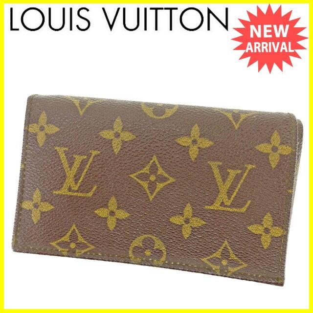 【中古】 ルイ ヴィトン Louis Vuitton L字ファスナー財布 二つ折り財布 メンズ可 ヴィンテージ モノグラム ブラウン モノグラムキャンバス 人気 良品 L1456