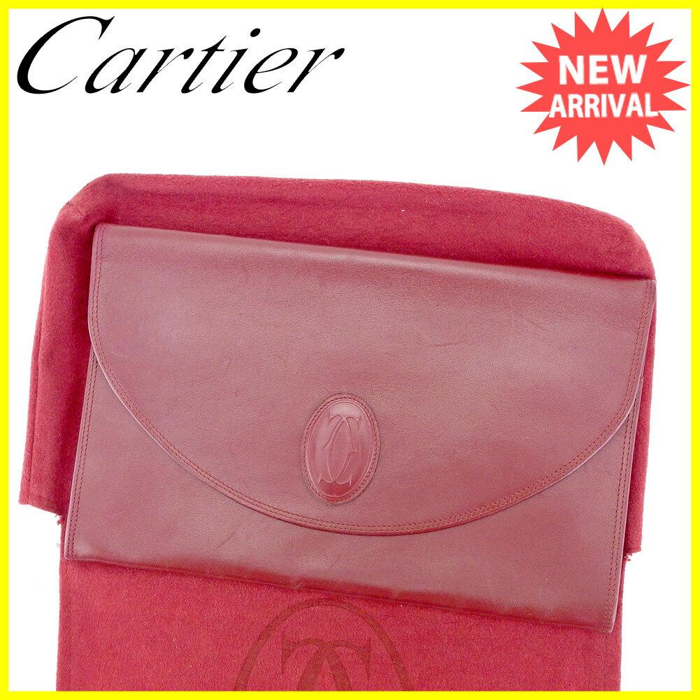 カルティエ クラッチバッグ セカンドバッグ Cartier ボルドー 【中古】 T4126s