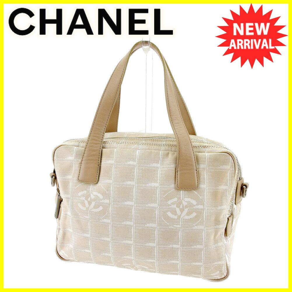 【お買い物マラソン】 【中古】 シャネル ハンドバッグ バッグ Chanel ベージュ×シルバー T4234s