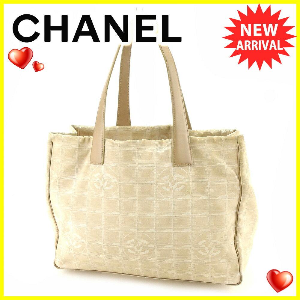 【中古】 シャネル トートバッグ /ショルダーバッグ Chanel ベージュ T4859s