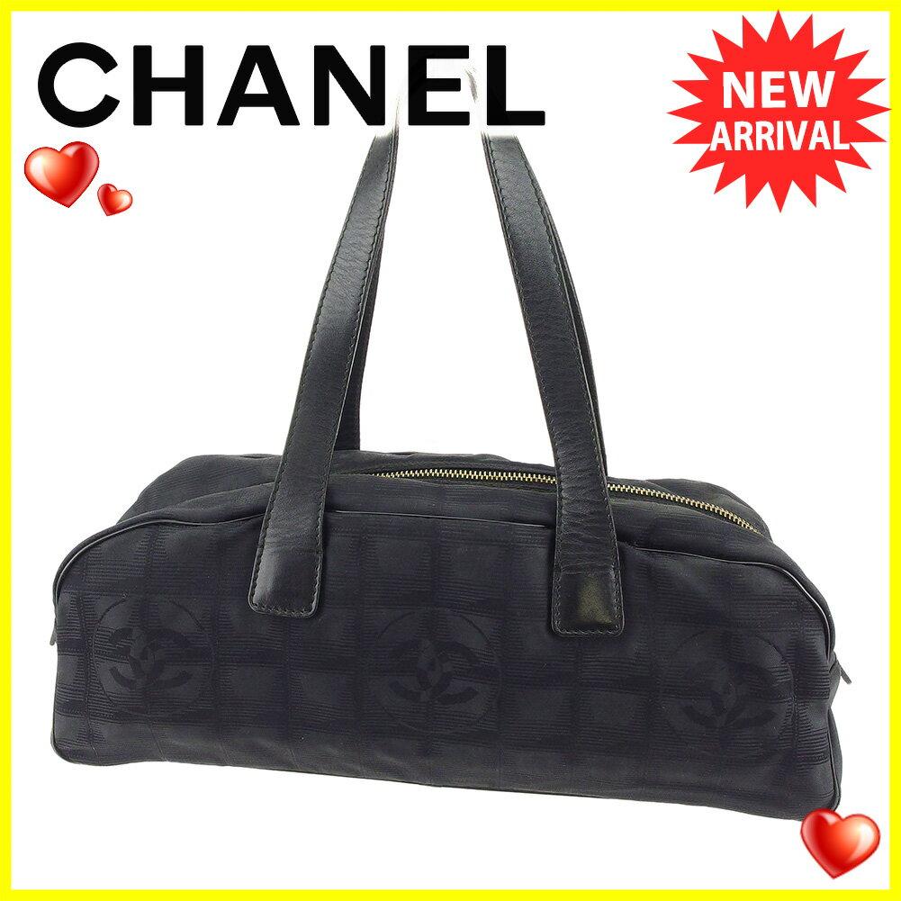 【中古】 シャネル ハンドバッグ ミニボストンバッグ Chanel ブラック系 T5052s