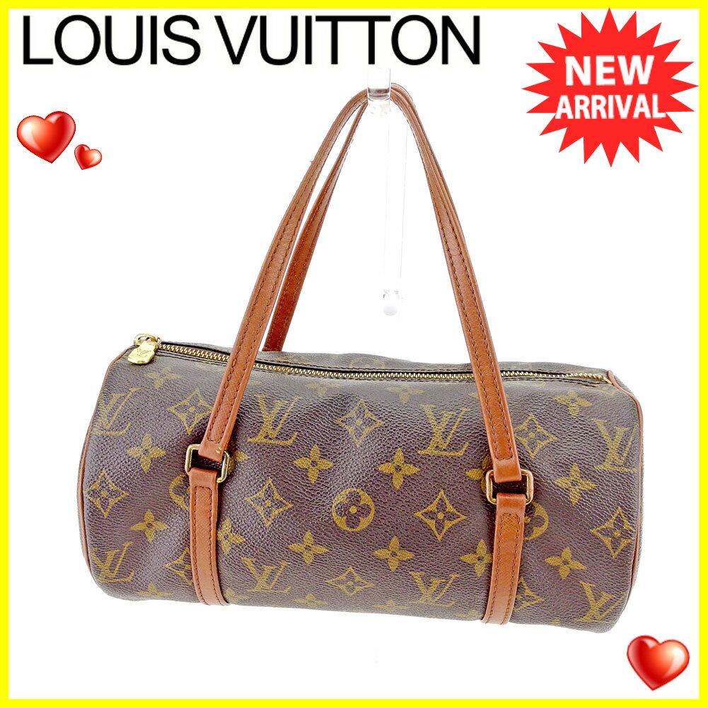 【お買い物マラソン】 【中古】 ルイ ヴィトン ハンドバッグ 筒型バッグ Louis Vuitton ブラウン系 T5179s