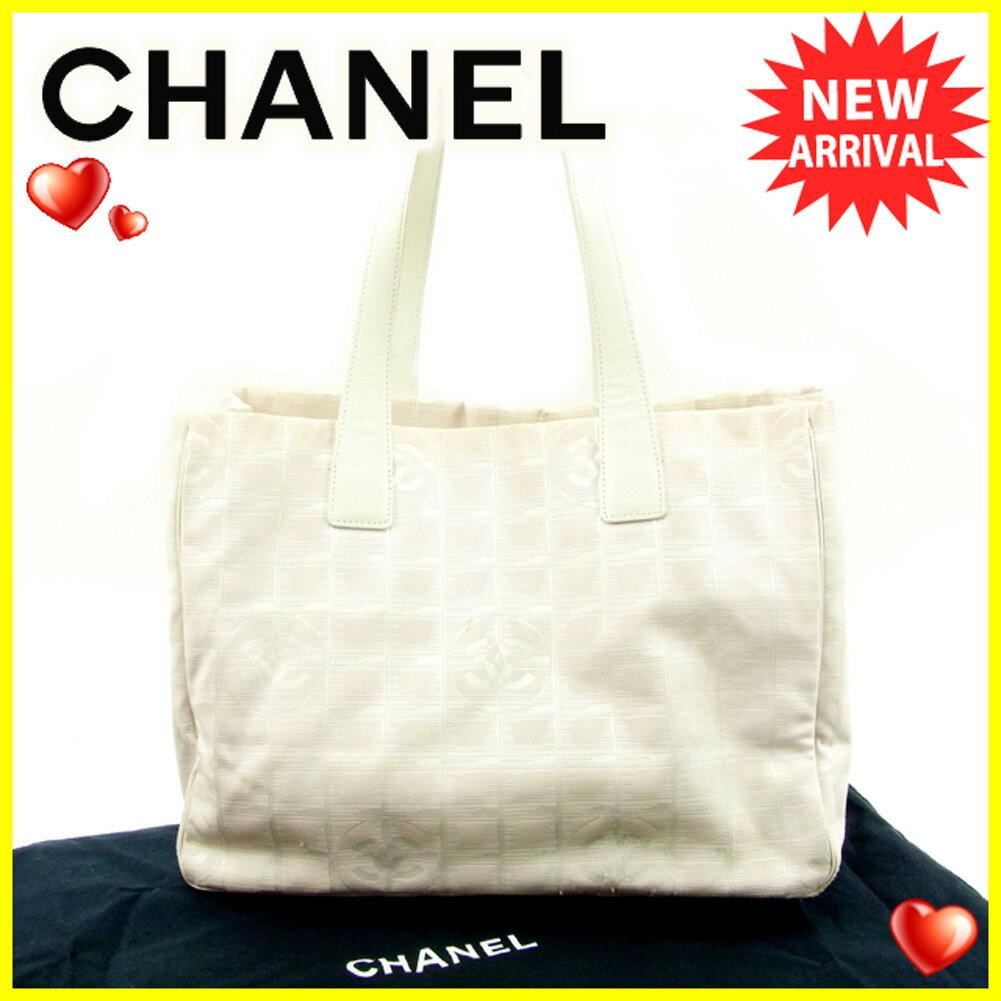【お買い物マラソン】 【中古】 シャネル トートバッグ /ショルダーバッグ Chanel ベージュ T4614s