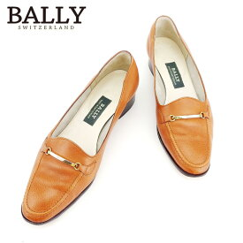 【中古】 バリー BALLY ローファー シューズ 靴 レディース #3ハーフ ブラウン レザー 人気 良品 D1859 .