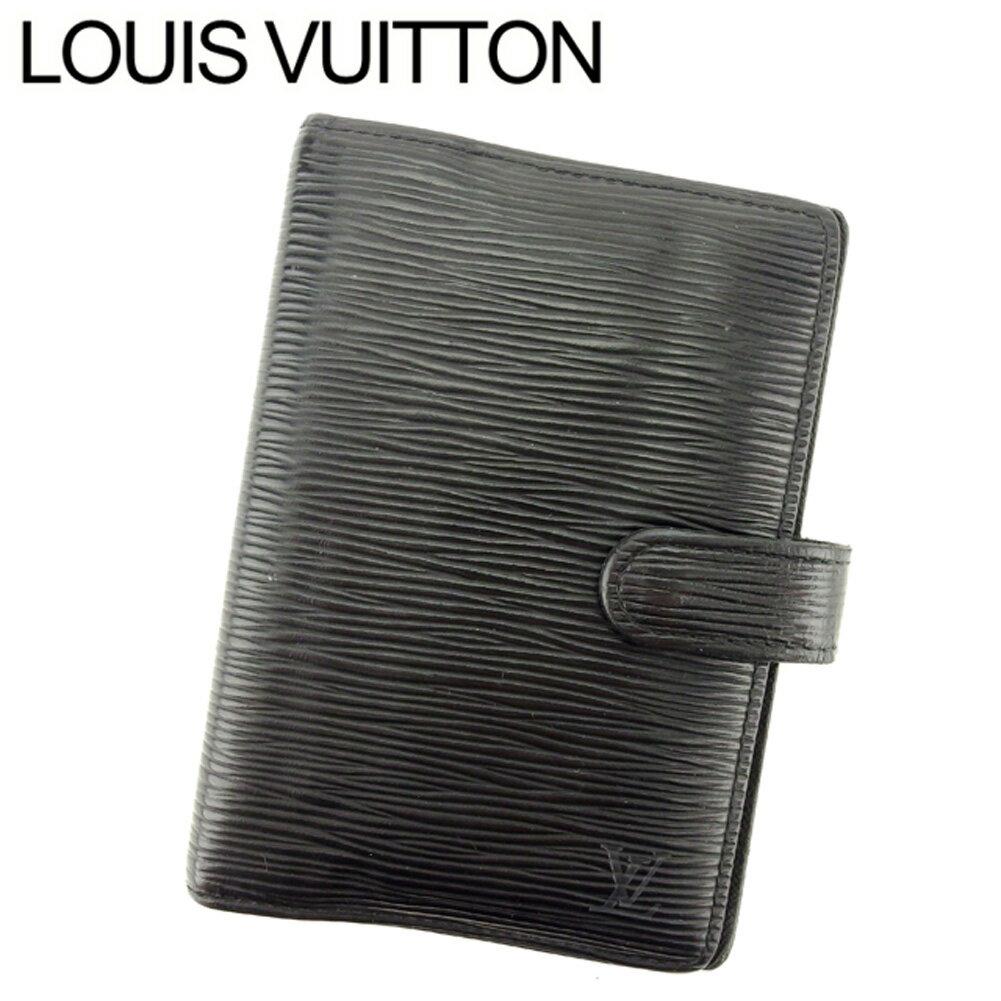 【中古】 ルイ ヴィトン Louis Vuitton 手帳カバー システム手帳カバー ブラック アジェンダPM エピ メンズ可 T7591s .