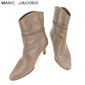 【中古】 マークジェイコブス MARC JACOBS ブーツ シューズ 靴 レディース #37 パープル レザー 人気 セール E1270 .