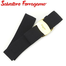 【中古】 サルヴァトーレ フェラガモ Salvatore Ferragamo ベルト レディース ブラック ゴールド キャンバス×ゴールド金具 T8068