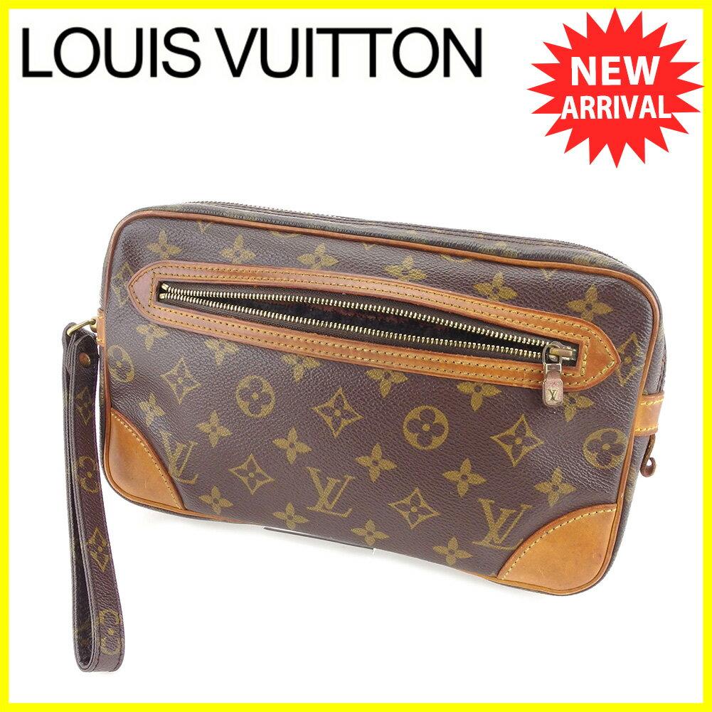 【お買い物マラソン】 【中古】 ルイ ヴィトン クラッチバッグ セカンドバッグ Louis Vuitton ブラウン T4994s